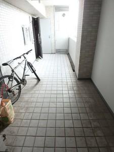 自転車を置いても余るスペースです!